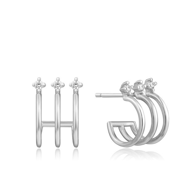 Ania Haie Ear We Go Triple Mini Hoop Stud Earrings in 925 Silver Taylors Jewellers Alliston, ON