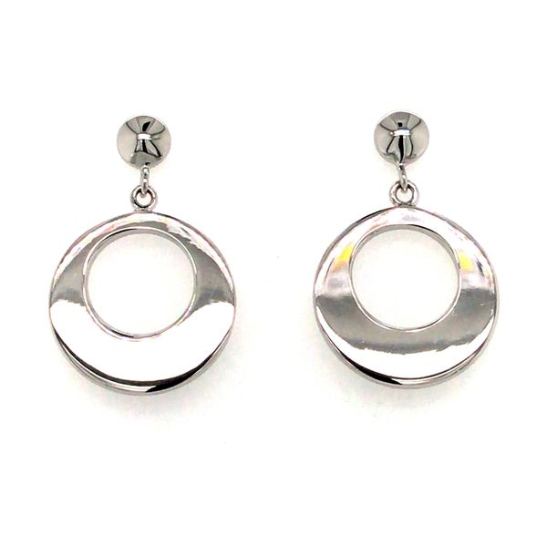 ELLE STERLING SILVER SMALL CIRCLE DROP EARRINGS Taylors Jewellers Alliston, ON