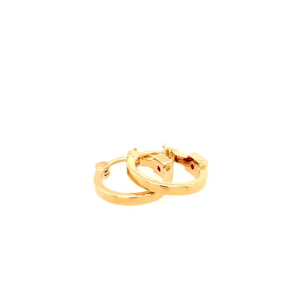ELLE 15MM GOLD PLATED STERLING SILVER HOOP EARRINGS Taylors Jewellers Alliston, ON