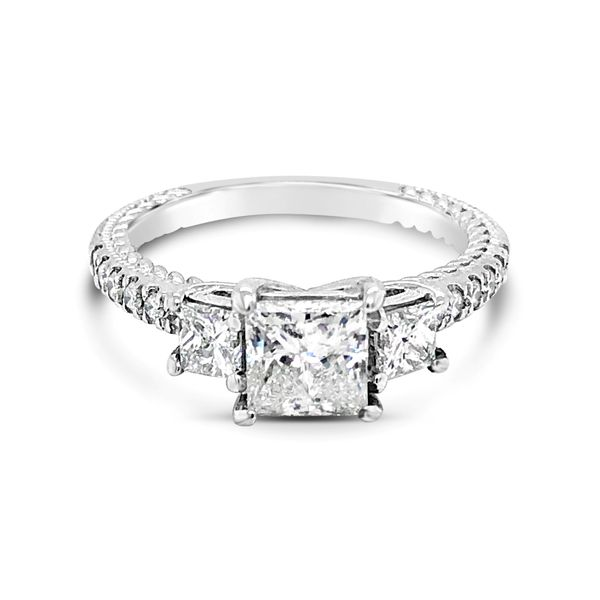 14K White Gold 3 Stone Diamond Engagement Ring Texas Gold Connection Greenville, TX