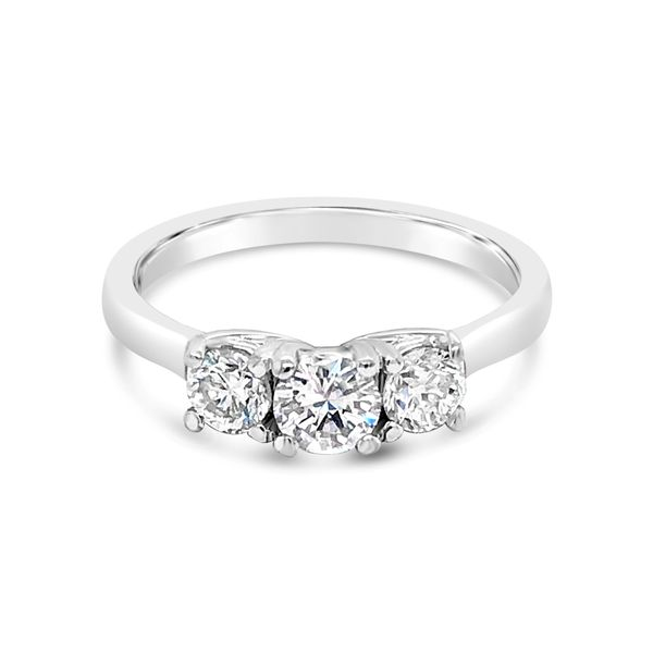 14K White Gold 3 Stone Solitaire Diamond Engagement Ring Texas Gold Connection Greenville, TX