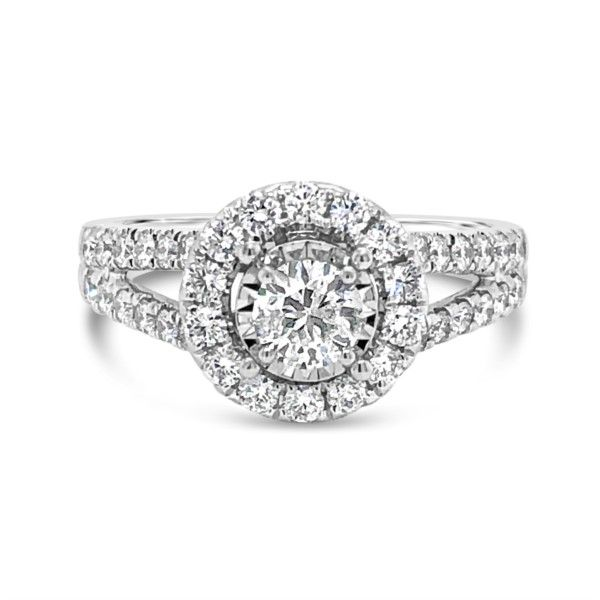 14K White Gold Diamond Halo Engagement Ring Texas Gold Connection Greenville, TX
