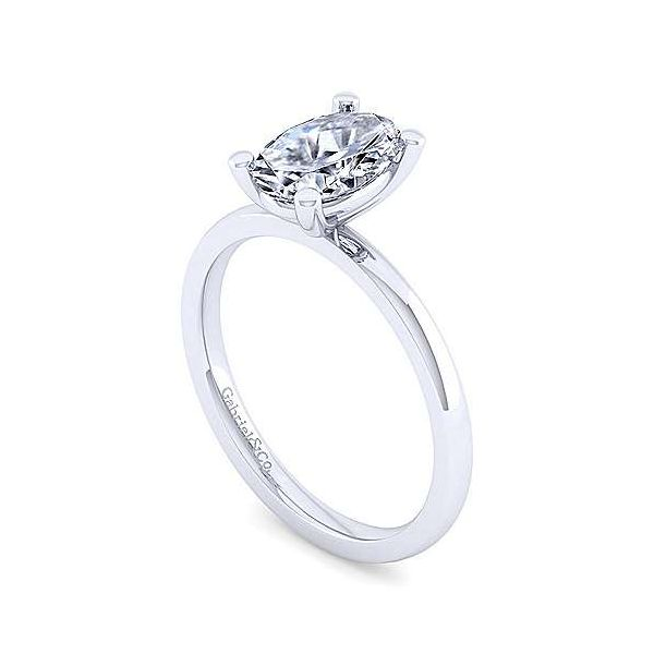 14K White Gold Oval Diamond Engagement Ring Image 3 Texas Gold Connection Greenville, TX