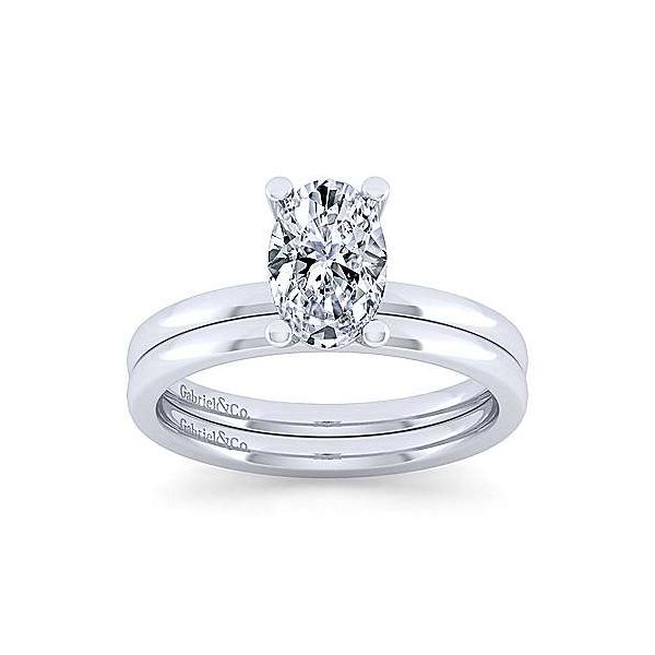 14K White Gold Oval Diamond Engagement Ring Image 4 Texas Gold Connection Greenville, TX