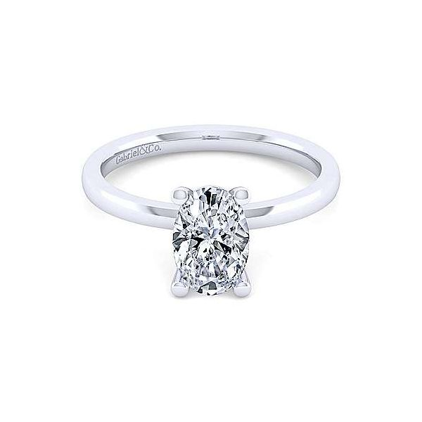 14K White Gold Oval Diamond Engagement Ring Texas Gold Connection Greenville, TX