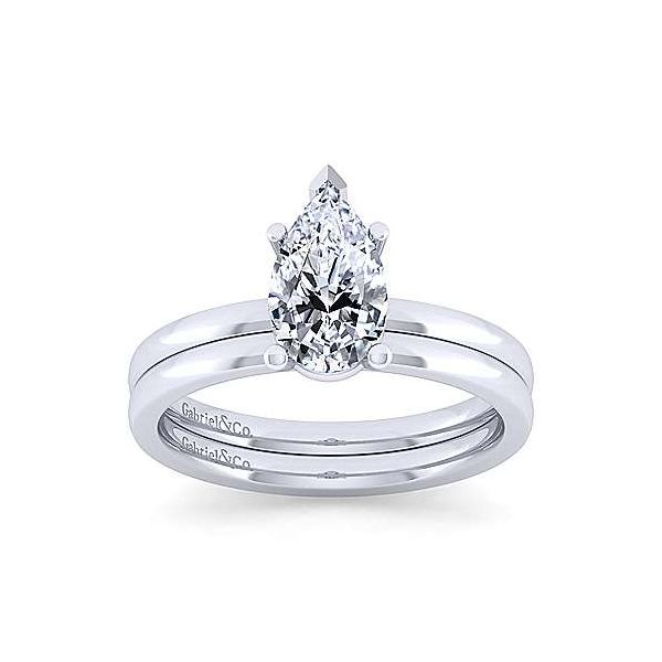 14K White Gold Pear Shape Diamond Engagement Ring Image 4 Texas Gold Connection Greenville, TX