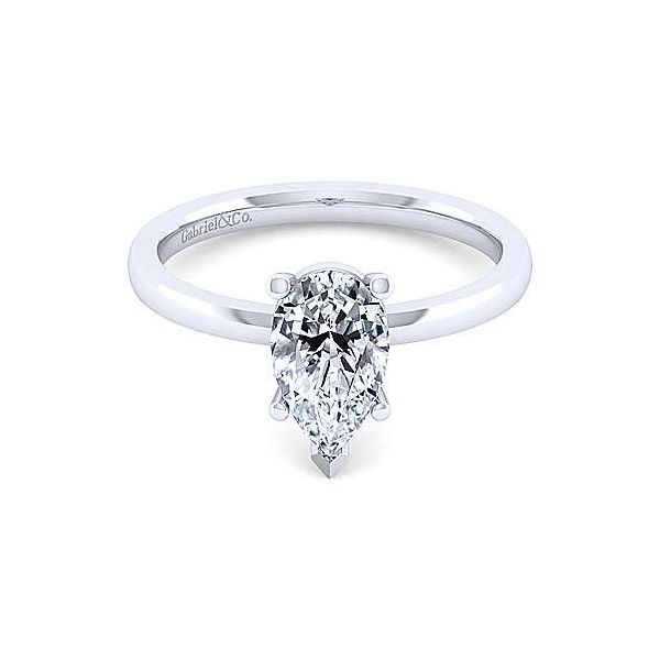 14K White Gold Pear Shape Diamond Engagement Ring Texas Gold Connection Greenville, TX