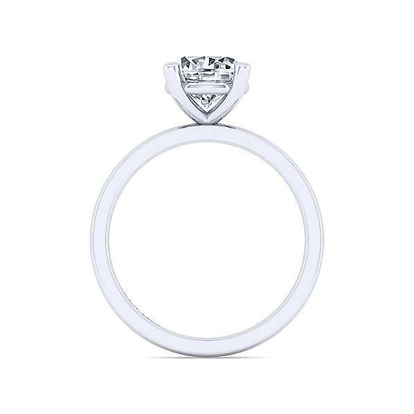 14K White Gold Round Diamond Engagement Ring Image 2 Texas Gold Connection Greenville, TX