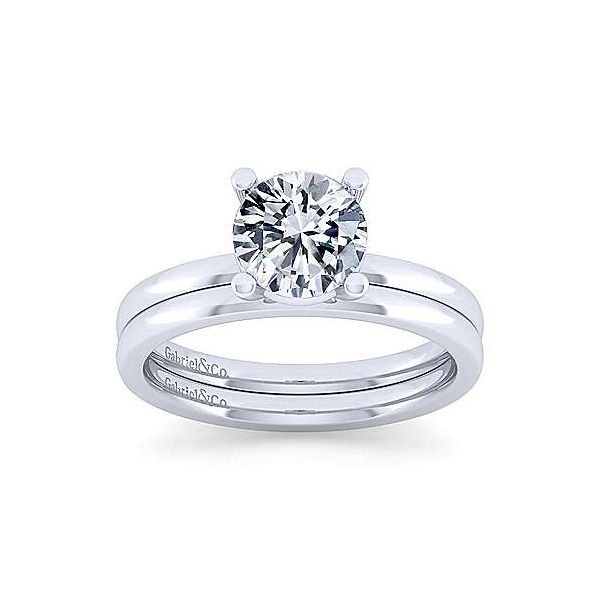 14K White Gold Round Diamond Engagement Ring Image 4 Texas Gold Connection Greenville, TX