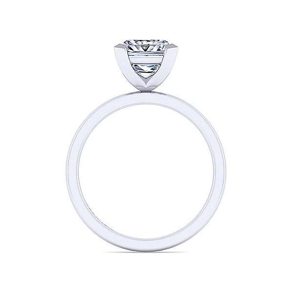 14K White Gold Princess Cut Diamond Engagement Ring Image 2 Texas Gold Connection Greenville, TX