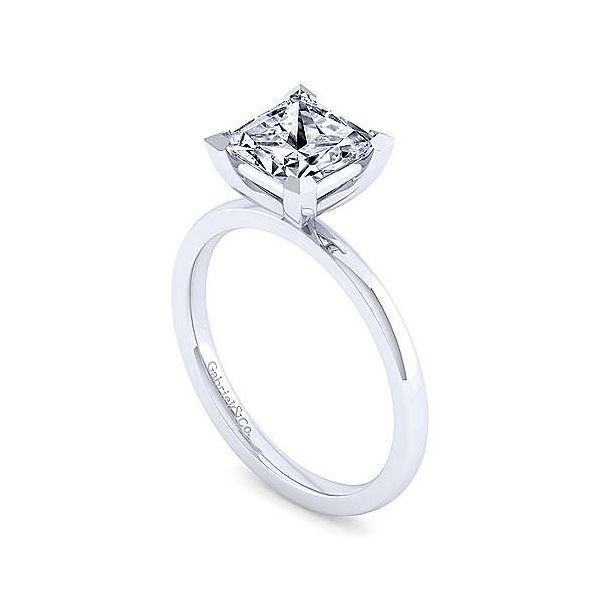 14K White Gold Princess Cut Diamond Engagement Ring Image 3 Texas Gold Connection Greenville, TX