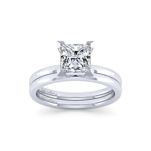 14K White Gold Princess Cut Diamond Engagement Ring Image 4 Texas Gold Connection Greenville, TX