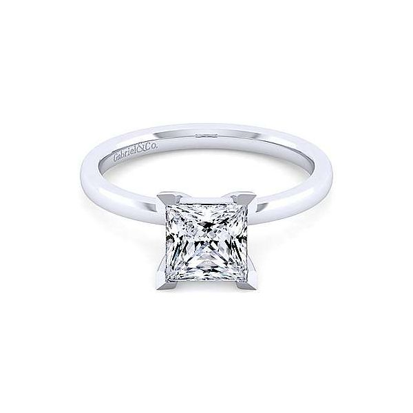 14K White Gold Princess Cut Diamond Engagement Ring Texas Gold Connection Greenville, TX
