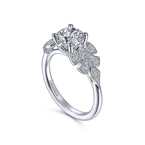 14K White Gold Round Diamond Engagement Ring Image 3 Texas Gold Connection Greenville, TX