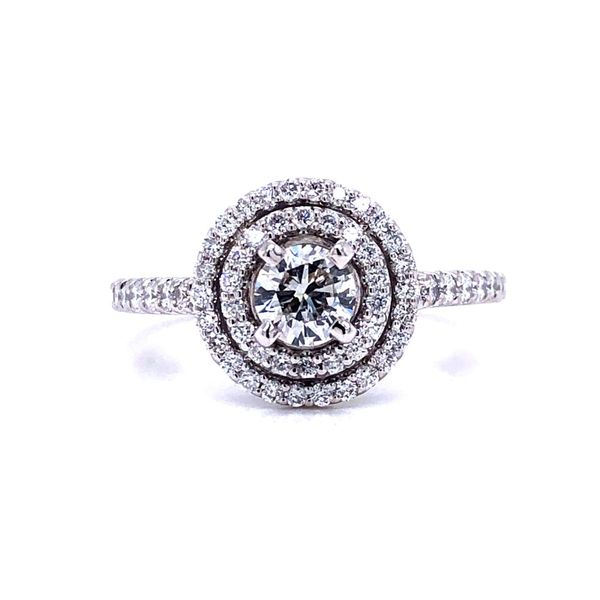 14K White Gold Double Halo Diamond Engagement Ring Texas Gold Connection Greenville, TX