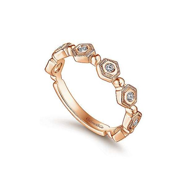 14K Rose Gold Fashion Ladies Ring Image 3 Texas Gold Connection Greenville, TX