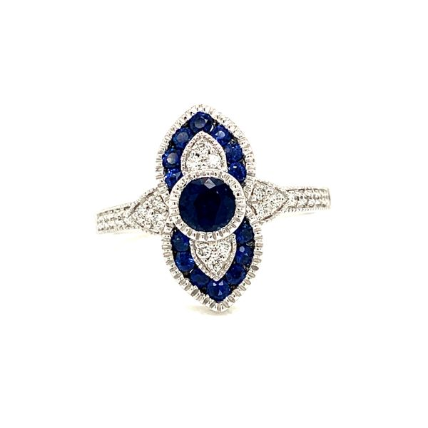 14K White Gold Sapphire Diamond Ring Texas Gold Connection Greenville, TX