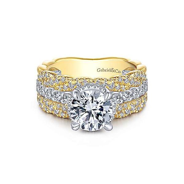 14k Yellow White Gold Engagement Ring Texas Gold Connection Greenville Tx