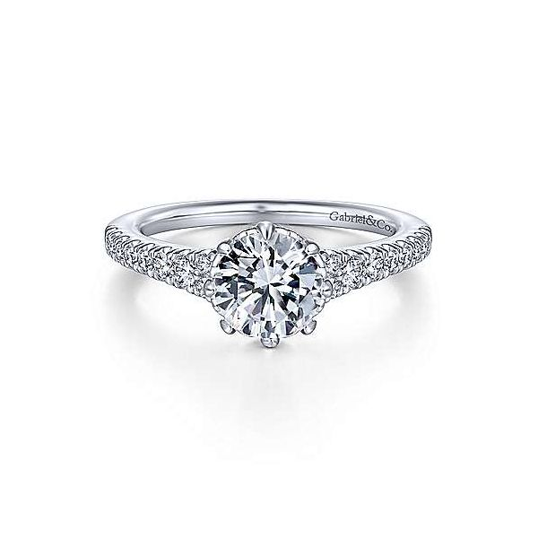 14K White Gold Round Diamond Engagement Ring Texas Gold Connection Greenville, TX