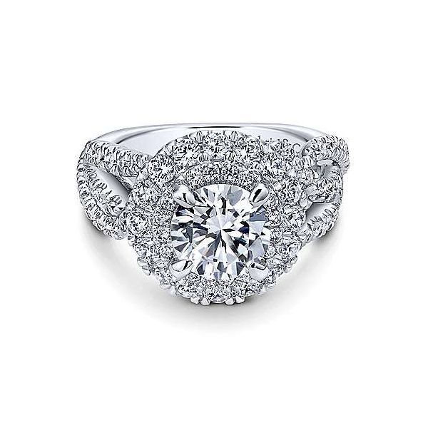 14K White Gold Round Halo Diamond Engagement Ring Texas Gold Connection Greenville, TX