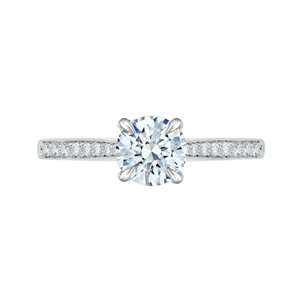 14K White Gold Straight Semi Mount Engagement Ring Texas Gold Connection Greenville, TX