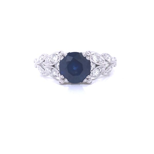 14K White Gold Blue Sapphire Engagement Ring Texas Gold Connection Greenville, TX