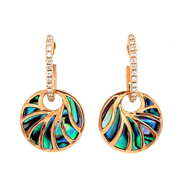 14K Rose Gold Abalone Earrings Texas Gold Connection Greenville, TX