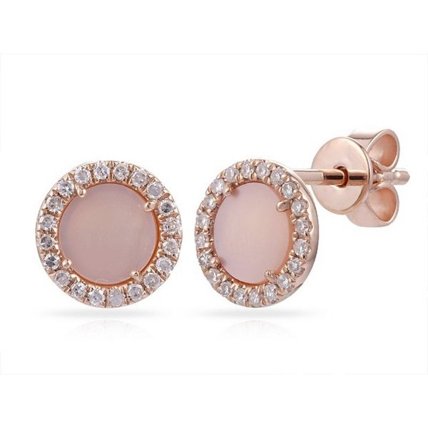 Lady's 14K Rose Gold Stud Earrings Texas Gold Connection Greenville, TX