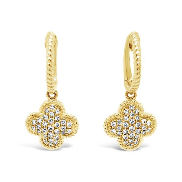 Lady's 14K Yellow Gold Drop Diamond Earrings Texas Gold Connection Greenville, TX