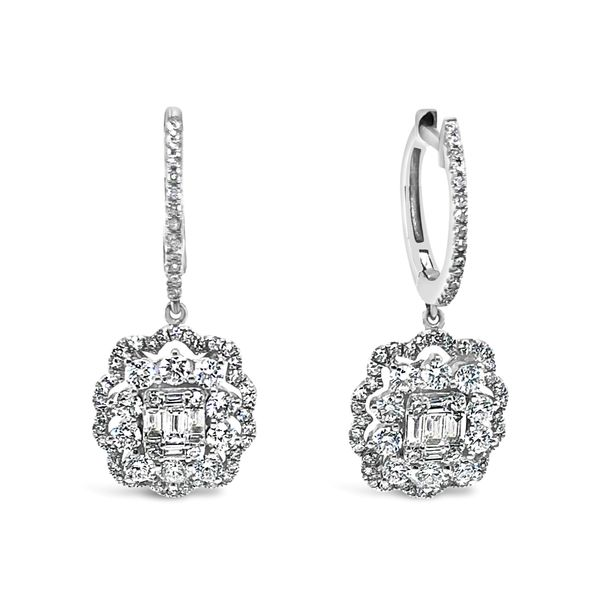 Lady's 14K White Gold Diamond Earrings Texas Gold Connection Greenville, TX