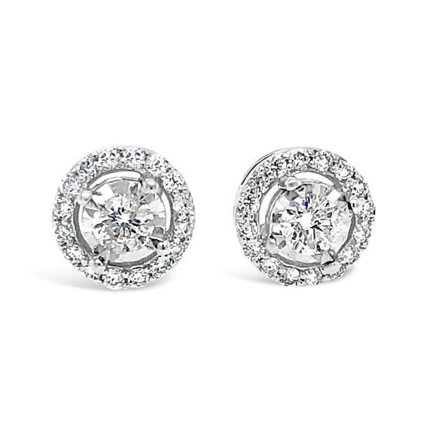 1/2 ctw Halo Diamond Studs Texas Gold Connection Greenville, TX