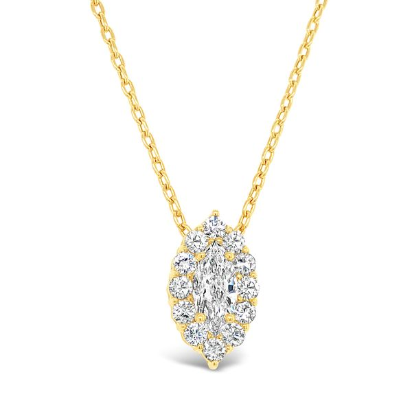 Lady's 14K Yellow Gold Marquise Diamond Necklace Texas Gold Connection Greenville, TX