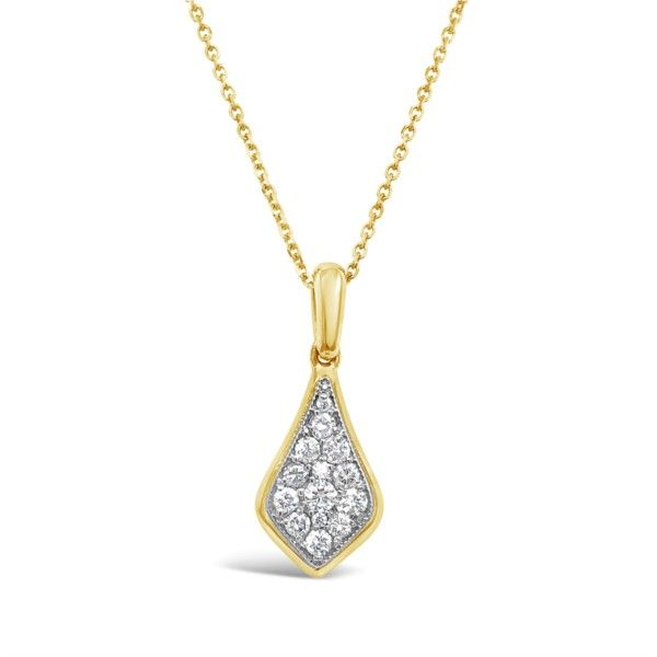 Lady's 14K Yellow Gold Drop Diamond Pendant Necklace Texas Gold Connection Greenville, TX