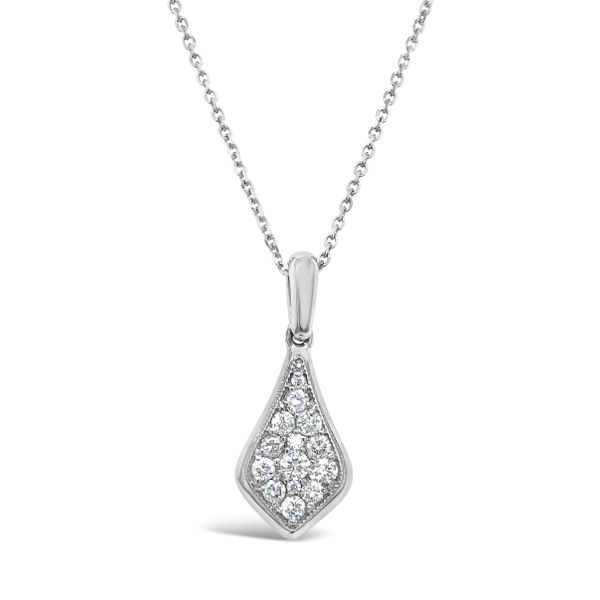 Lady's 14K White Gold Diamond Pendant Necklace Texas Gold Connection Greenville, TX