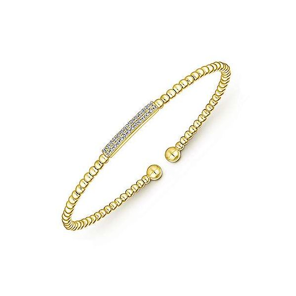 14K Yellow Gold Fashion Bangle Image 2 Texas Gold Connection Greenville, TX