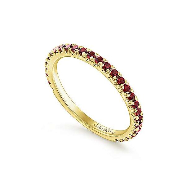 14K White Gold Stackable Garnet Ring Image 4 Texas Gold Connection Greenville, TX