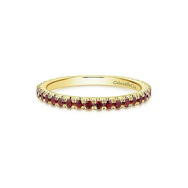 14K White Gold Stackable Garnet Ring Texas Gold Connection Greenville, TX