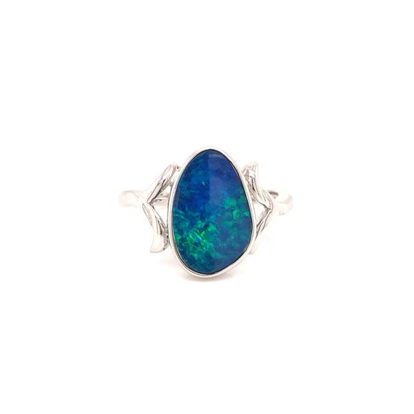 Lady's 14K White Gold Opal Solitaire Fashion Ring Texas Gold Connection Greenville, TX
