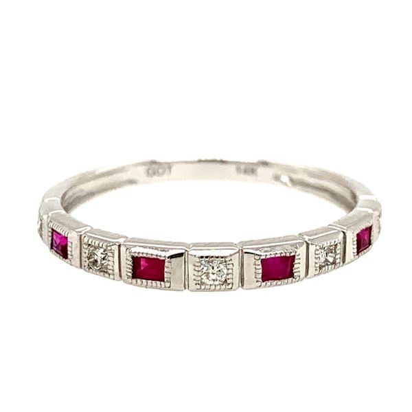 Ladies 14K White Gold Ruby Mixable Ring Texas Gold Connection Greenville, TX