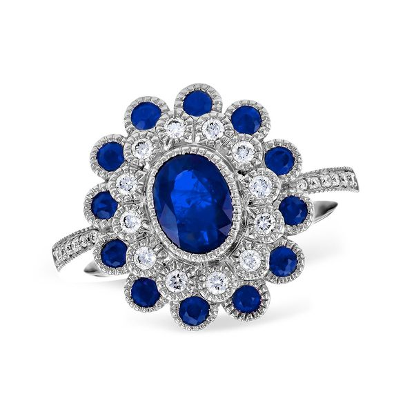 Lady's 14K White Gold Antique Style Sapphire Fashion Ring Texas Gold Connection Greenville, TX