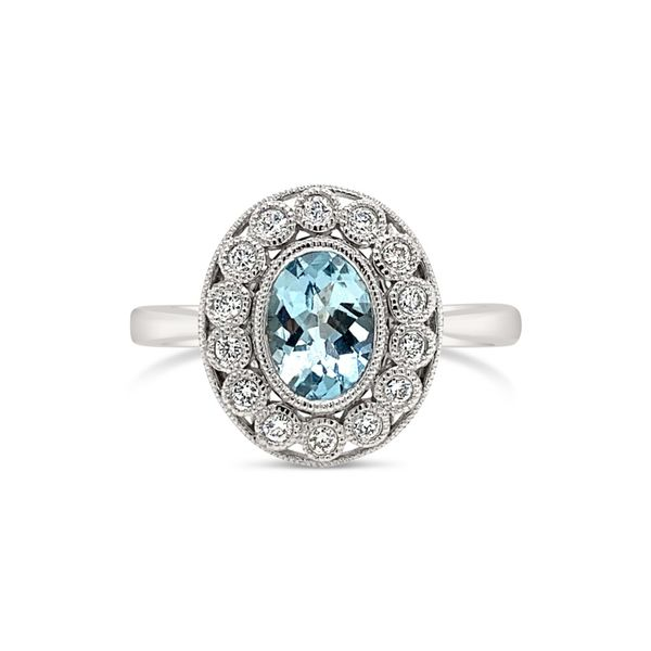 14K White Gold Aqua Diamond Engagement Ring Texas Gold Connection Greenville, TX