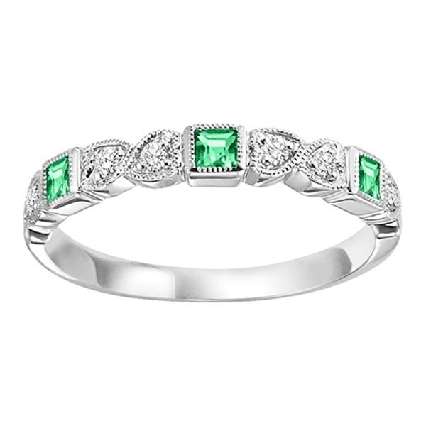Ladies 14K White Gold Emerald Mixable Ring Texas Gold Connection Greenville, TX