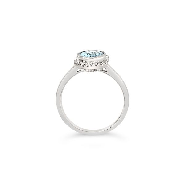 14K White Gold Aquamarine and Diamond Engagement Ring Image 4 Texas Gold Connection Greenville, TX