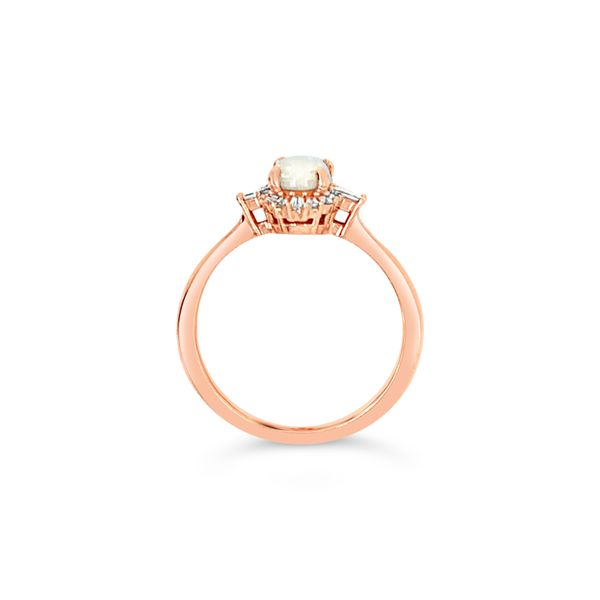 14K Rose Gold Australian Opal Engagement Ring Image 4 Texas Gold Connection Greenville, TX