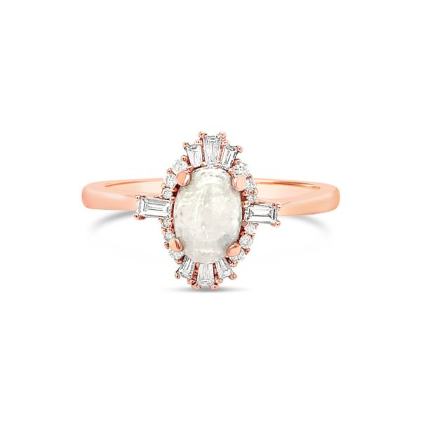 14K Rose Gold Australian Opal Engagement Ring Texas Gold Connection Greenville, TX