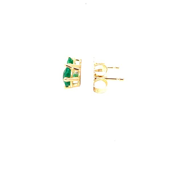 1/2 CTW ROUND EMERALD STUD EARRINGS Image 2 Texas Gold Connection Greenville, TX