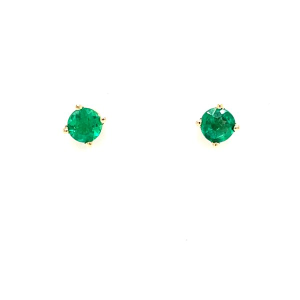 1/2 CTW ROUND EMERALD STUD EARRINGS Texas Gold Connection Greenville, TX