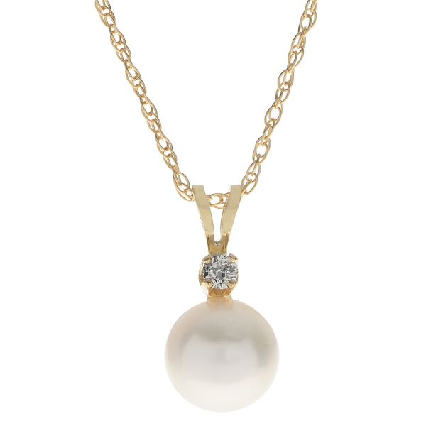 Lady's 14K Yellow Gold 7mm Pearl Drop Pendant Texas Gold Connection Greenville, TX