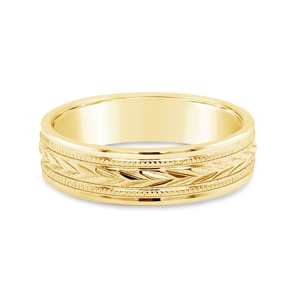 14K Yellow Gold Engraved Band Texas Gold Connection Greenville, TX