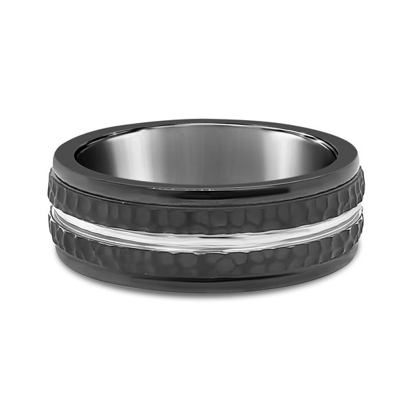 Straight Black Cobalt Wedding Band Texas Gold Connection Greenville, TX